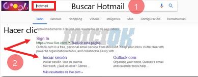 Buscar hotmail