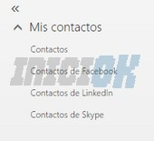 Clasificación de contactos correo hotmail español