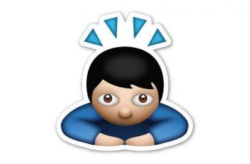 Emoji hombre inclinado
