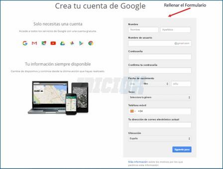 Rellenar Formulario de Gmail