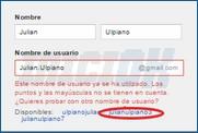 Elección de usuario Gmail