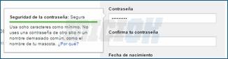 Contraseña segura Gmail