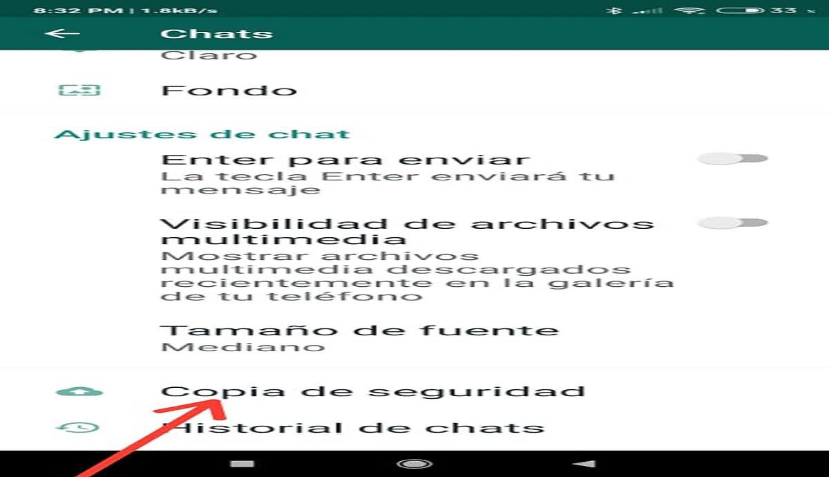 Copia de seguridad de WhatsApp