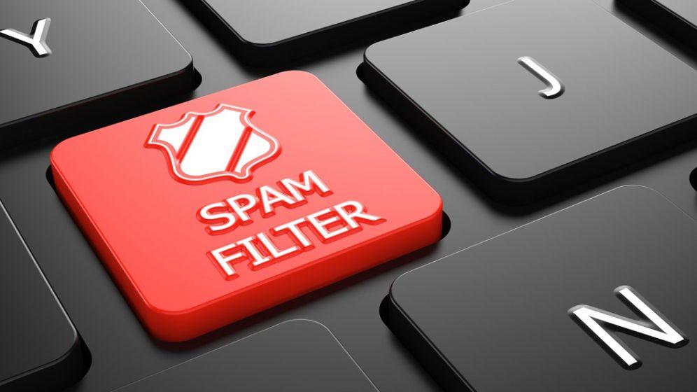 filtros anti-spam boton