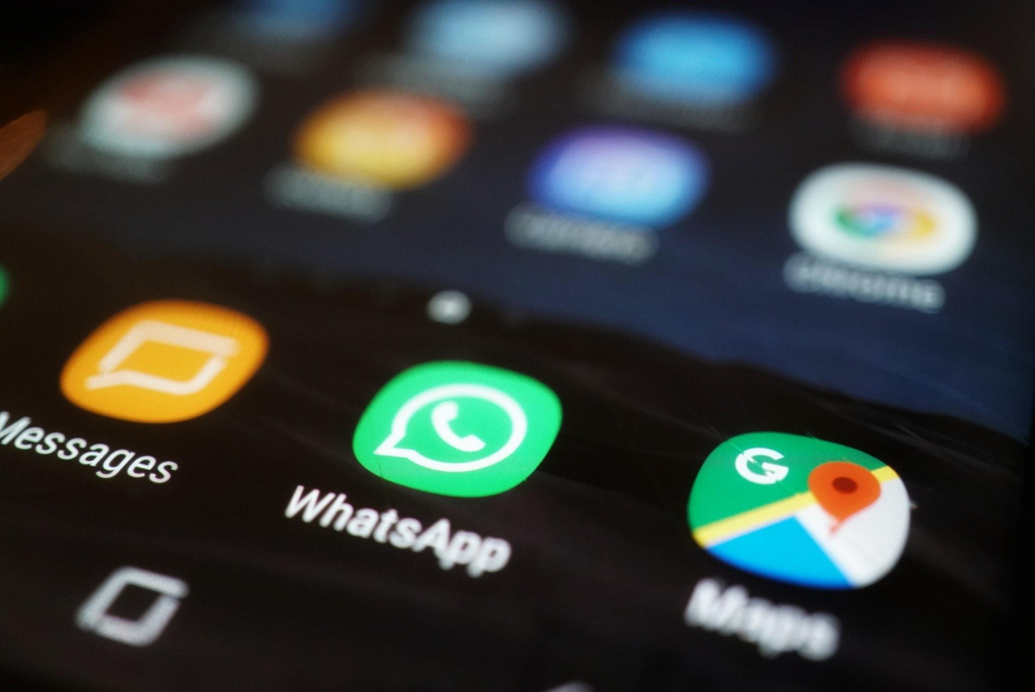 WhatsApp ícono bloqueado
